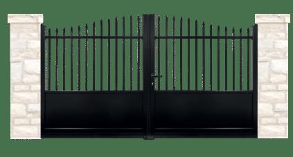 portail aluminium contemporain souverain