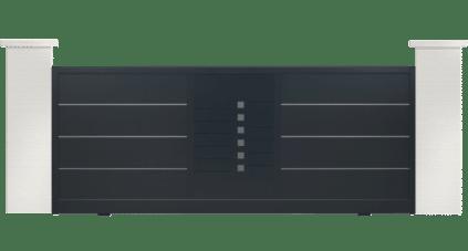 portail aluminium contemporain symphonie