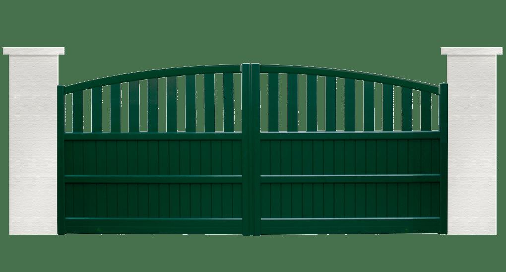 portail aluminium contemporain techtonic