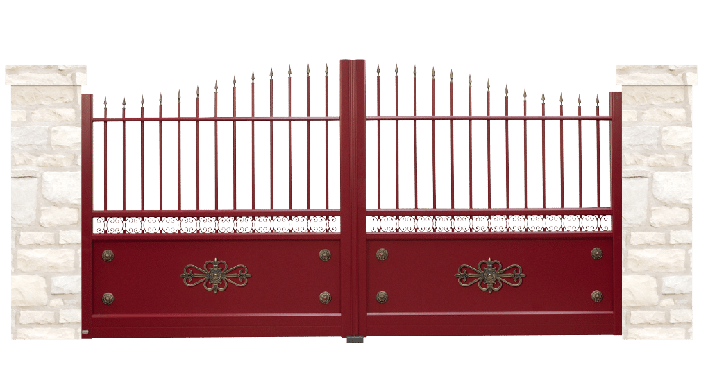 portail aluminium contemporain templier