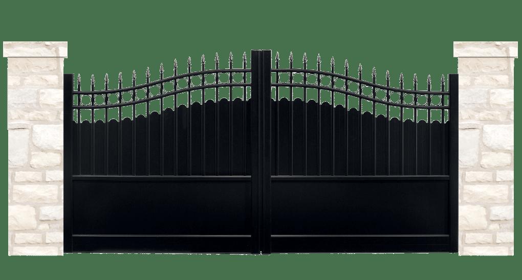 portail aluminium contemporain terroir