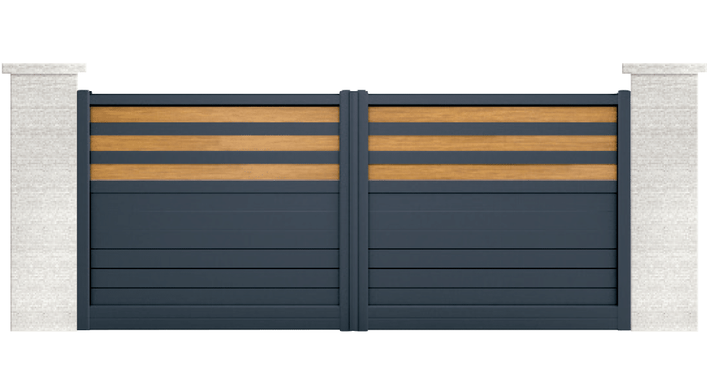 portail aluminium contemporain tiliqua
