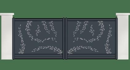 portail aluminium contemporain titane