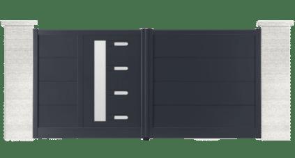 portail aluminium contemporain turner