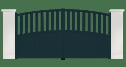 portail aluminium contemporain vent