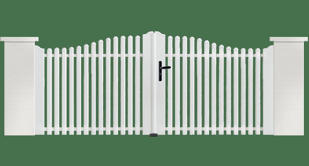 Portail PVC Accordéon fabriqué sur mesure par Charuel