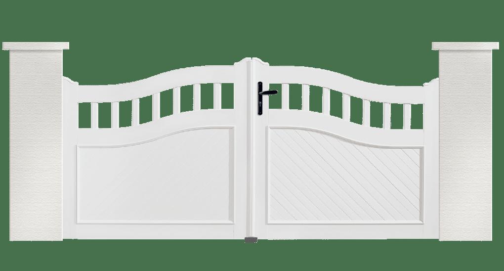 Portail PVC Anneaux est fabriqué sur mesure par Charuel