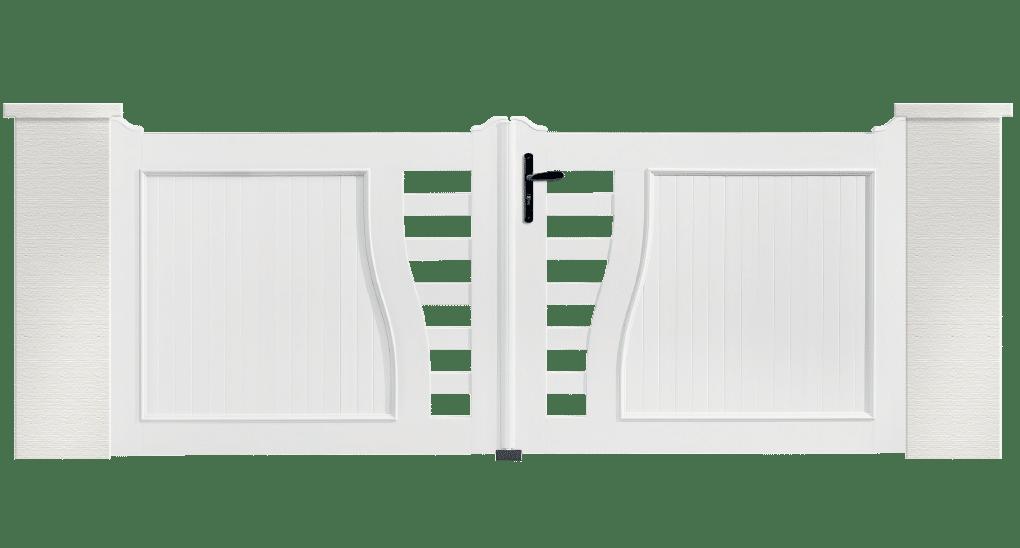 Portail PVC Batterie, fabriqué sur mesure
