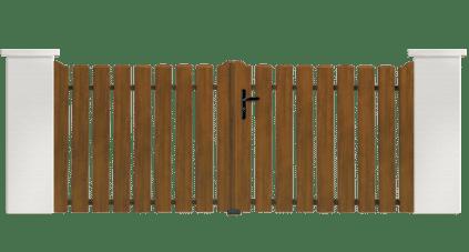 Portail PVC Bombarde, fabriqué sur mesure et installé par les professionnels Charuel