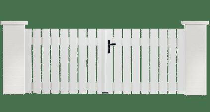 Portail PVC Castagnette, fabriqué sur mesure