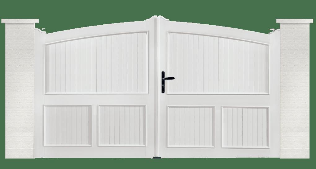 Portail PVC Céleste, ouverture battante et coulissante