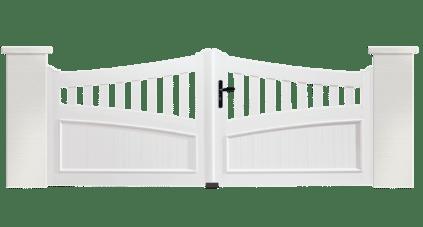 Portail PVC Clairon, fabriqué sur mesure par Charuel
