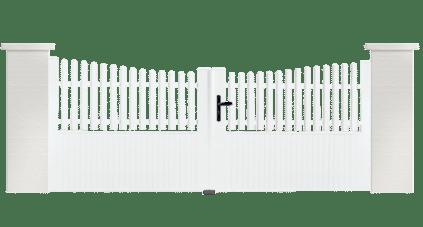 Portail PVC Clavecin, fabriqué sur mesure par Charuel