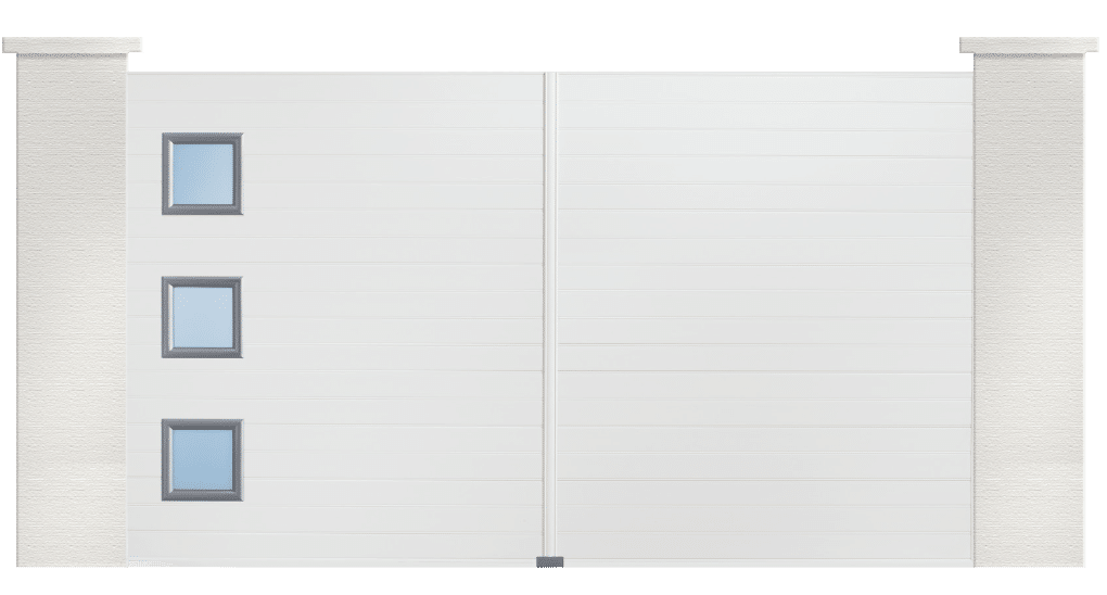 Votre portail PVC Compositeur disponible en 3 coloris. Une fabrication sur mesure et fabrication française.