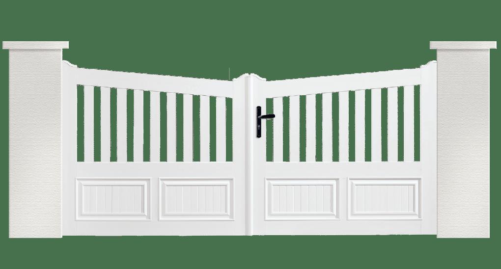 Portail PVC Clochette, fabriqué sur mesure par Charuel