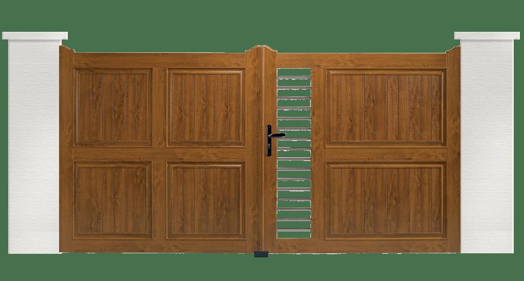 Votre portail PVC Corde Charuel. Conseils, fourniture et pose de votre portail sur mesure