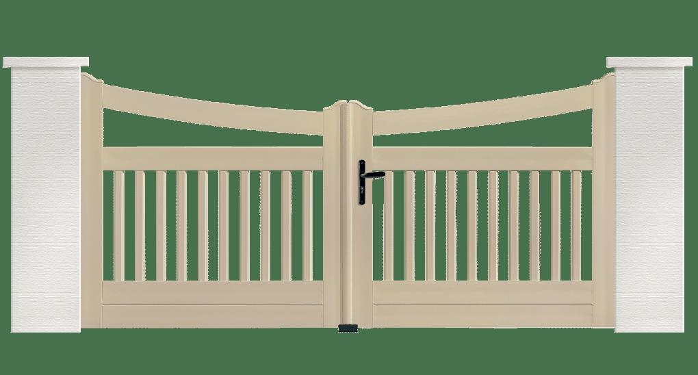 Portail PVC Cornemuse, fabriqué sur mesure en France par Charuel