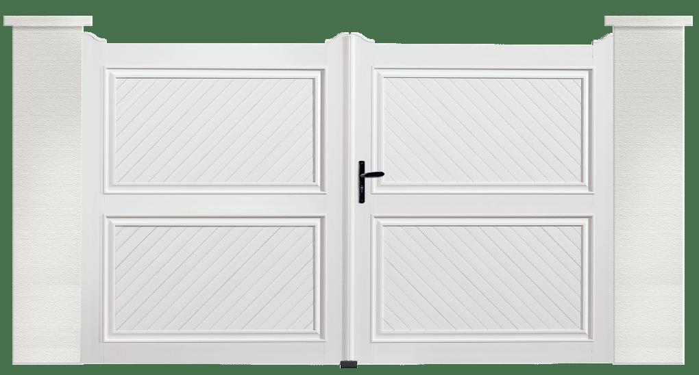 portail pvc contemporain crecelle