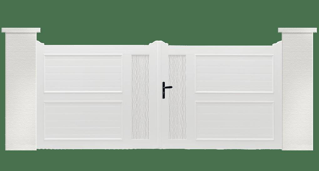 Portail PVC Danyen, fabriqué sur mesure et en France par Charuel