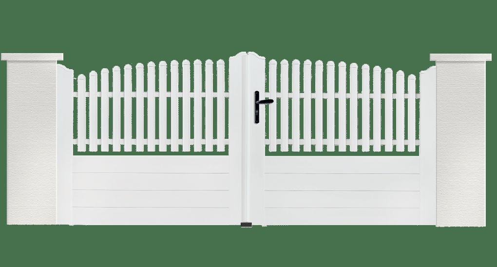 Portail PVC Flûte, fabriqué sur mesure en France par Charuel