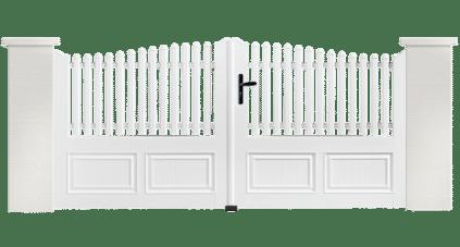 Portail PVC Gong, fabriqué sur mesure par Charuel