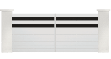 GOTA est un portail en PVC de la gamme les contemporains, style épuré et moderne avec ses lames de couleur