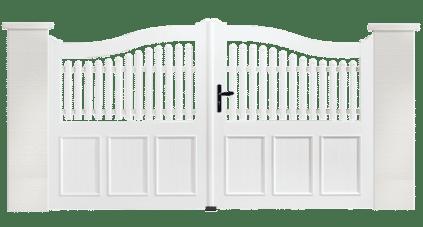 Portail PVC Grelot fabriqué sur mesure