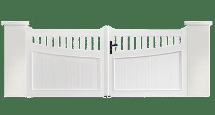 Portail PVC Guimbarde, un portail fabriqué sur mesure et en France