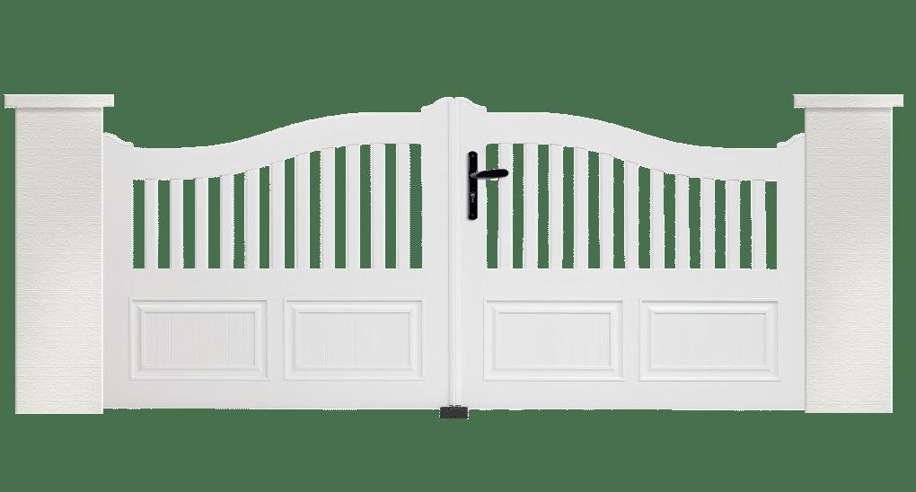 Portail PVC Guitare en blanc