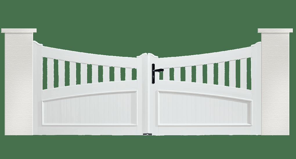 Portail PVC Harmonica est fabriqué sur mesure par Charuel