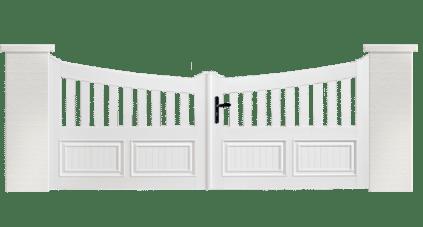 Portail PVC Harmonium, fabriqué sur mesure en France par Charuel