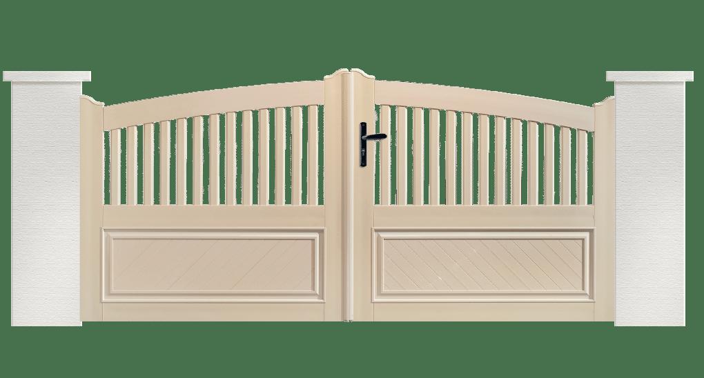 Portail PVC Harpe est fabriqué sur mesure par Charuel