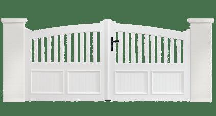 Portail PVC Lyre est fabriqué sur mesure par Charuel