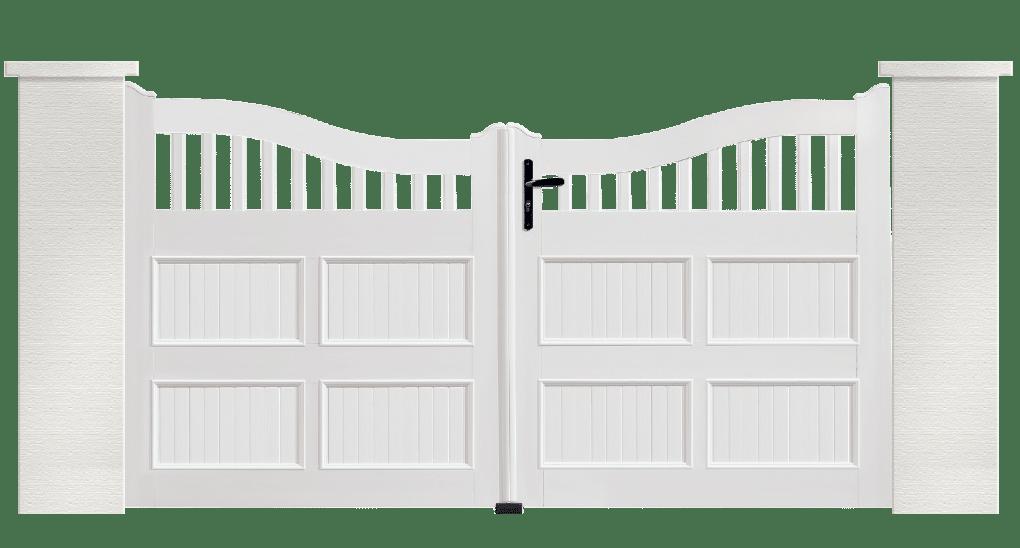 Portail PVC Maracas, fabriqué sur mesure par Charuel
