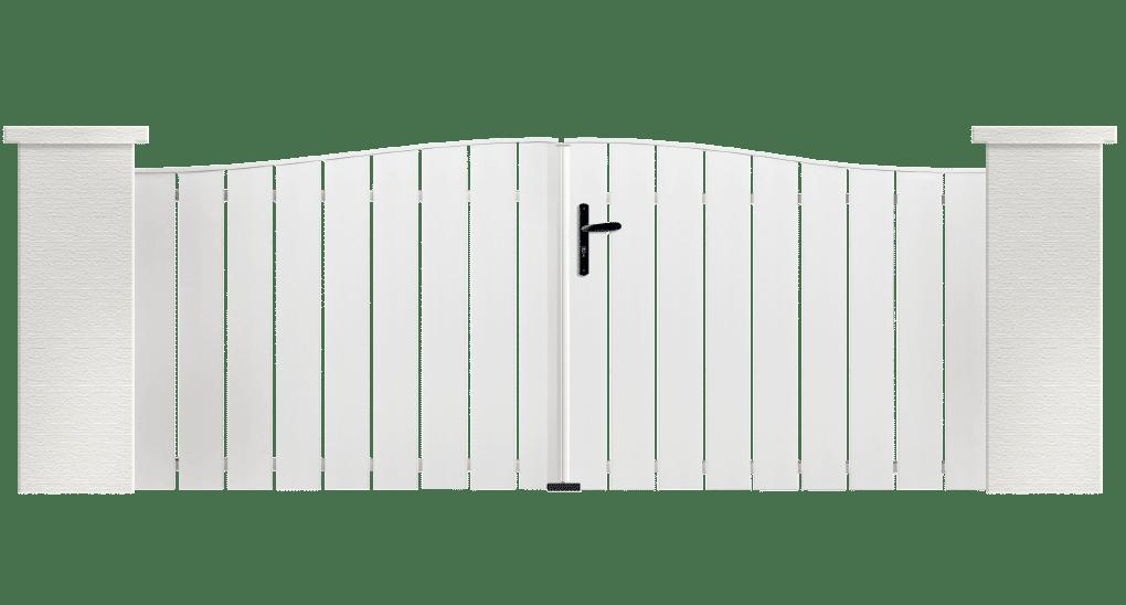 Portail PVC Orgue, fabriqué sur mesure par Charuel