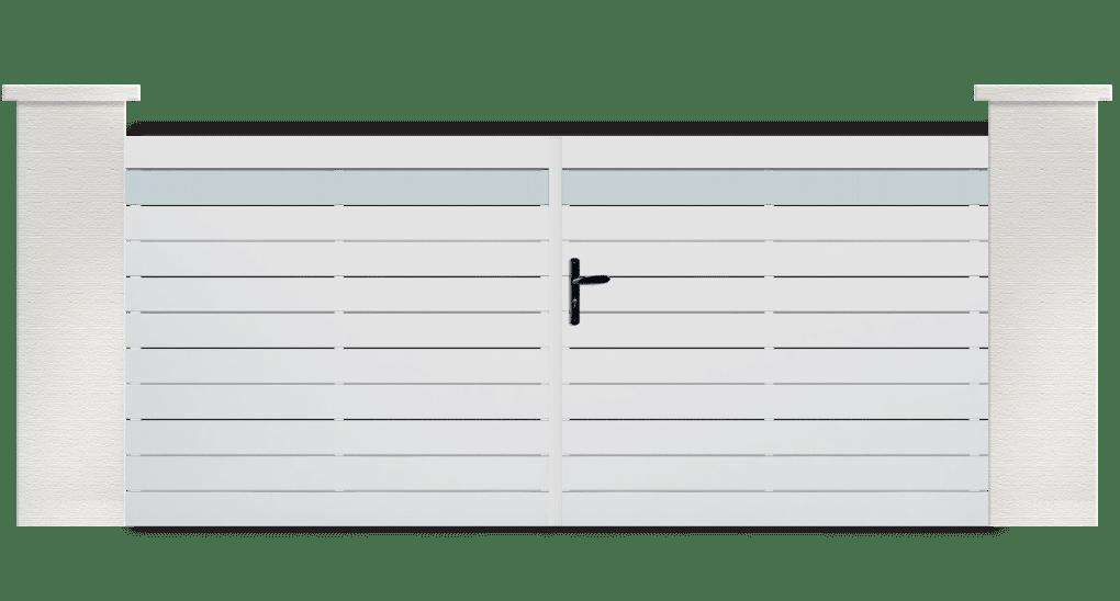 Portail PVC Patola, couleur et lames personnalisables