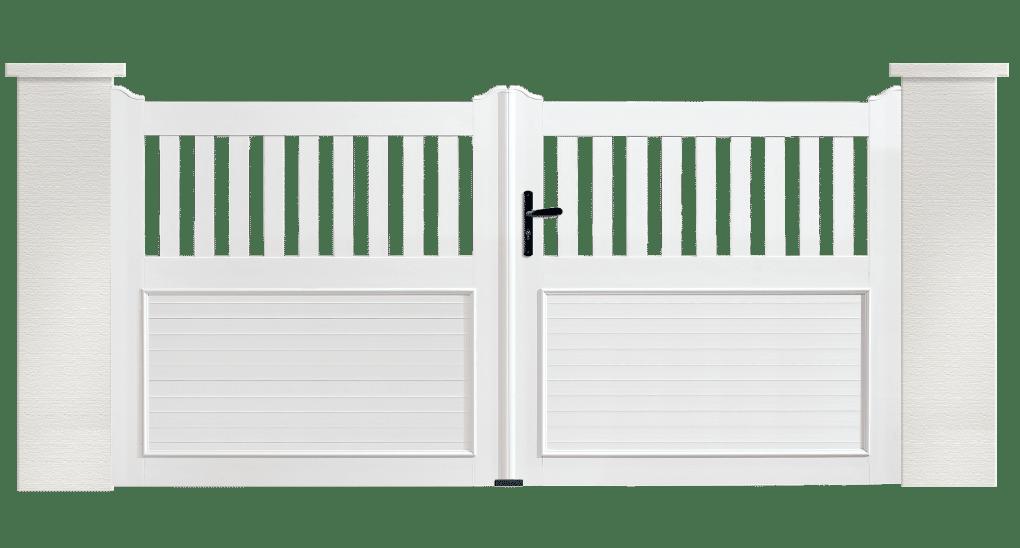 Portail PVC Planiciel, fabriqué et installé en France par Charuel