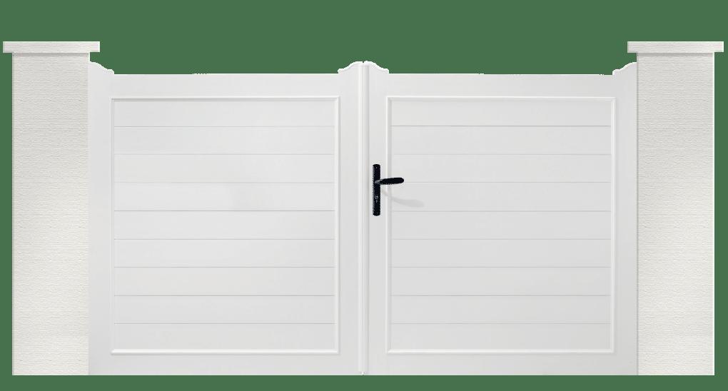 portail PVC contemporains rousserolle
