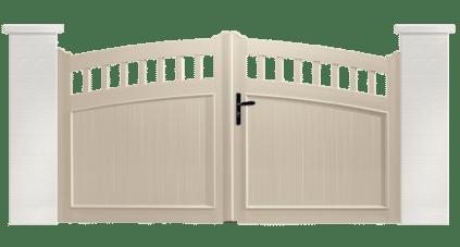 Portail PVC Synthétiseur, fabriqué sur mesure par Charuel