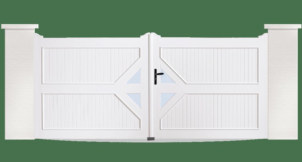 Le portail PVC Tambour est fabriqué sur mesure en France par Charuel. Et installé par des professionnels proche de chez vous.