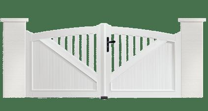 Portail PVC Trombone fabriqué sur mesure et en France