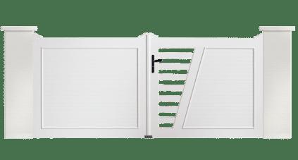 Portail PVC Trompette, votre portail sur mesure de fabricant & installateur Charuel