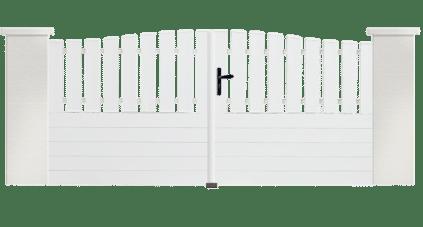 Portail PVC Violoncelle, fabriqué sur mesure par Charuel
