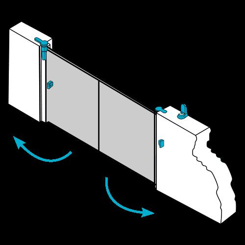 Moteur intégré pour portail alu