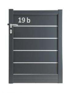 Portillon avec numéro de votre maison intégré