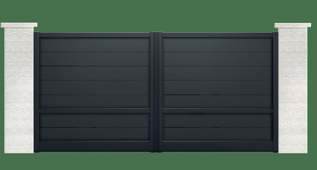 portail aluminium contemporain celsia