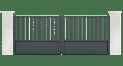 portail aluminium contemporain cinabre