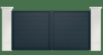 Portail aluminium Galène par Charuel. Fabriqué en France et sur mesure