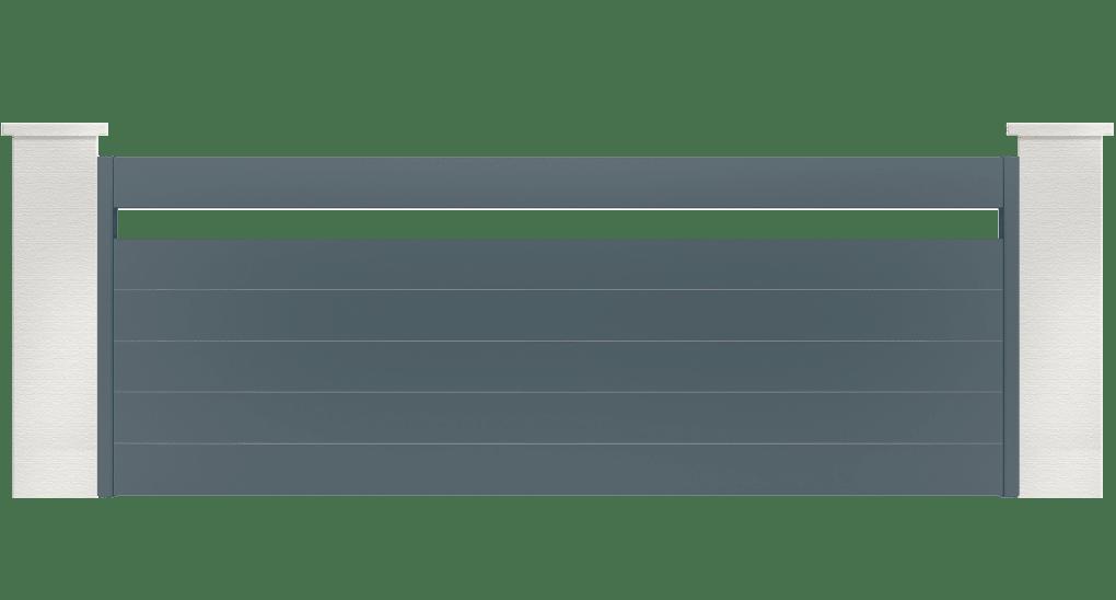 portail aluminium contemporain horizon