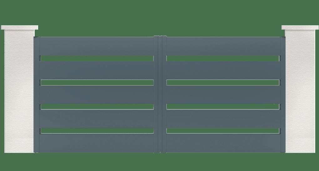 portail aluminium contemporain limorite